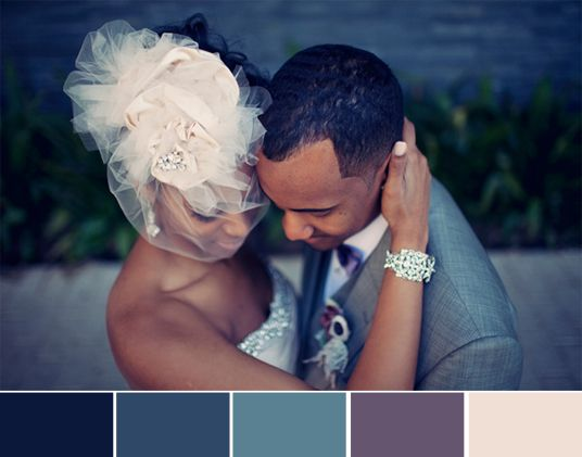amazing wedding colors but I would look redic in that hat baha
