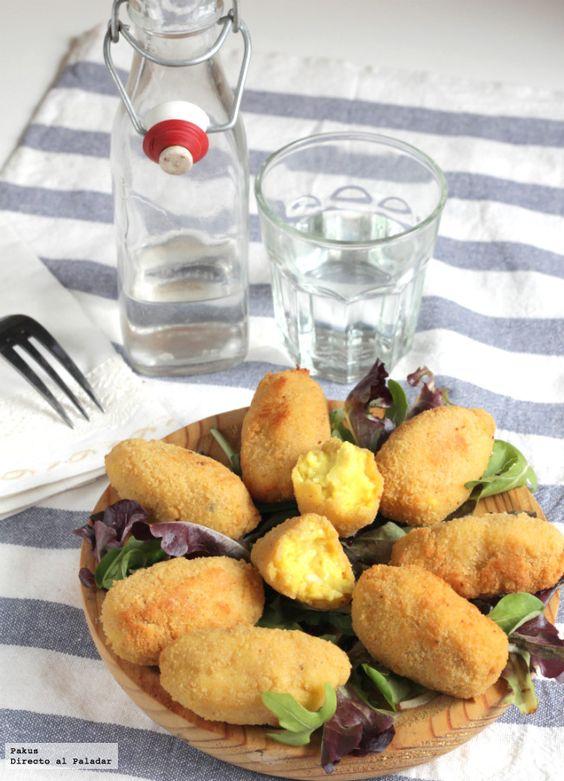 Croquetas de pollo al curry. Receta de aprovechamiento. Te encantará esta mezcla de sabores :)   http://www.directoalpaladar.com/recetas-de-aperitivos/croquetas-de-pollo-al-curry-receta-de-aprovechamiento
