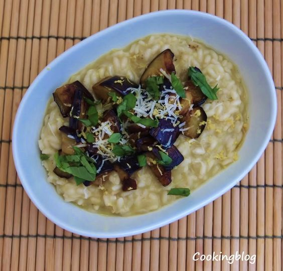 Cooking: Risotto de beringela e limão | Eggplant and lemon risotto ...