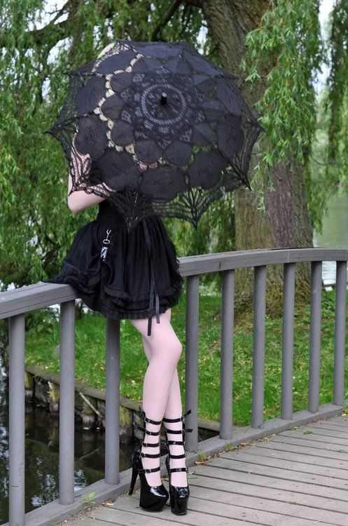 A girl needs to protect her fair skin from the sun, and why not do it in style... Victorian style lace parasols www.parasolheaven.com