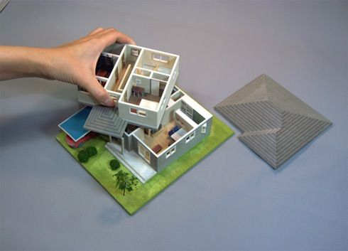 3dマイホームデザイナー からリアルな 住宅模型 を安価で作成して