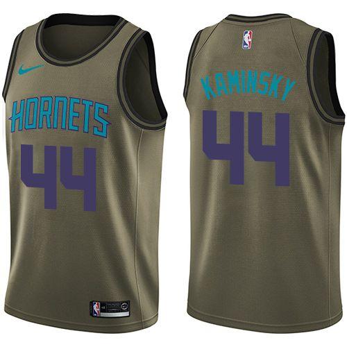 Nike Hornets #44 Frank Kaminsky Green Salute to Service NBA ...