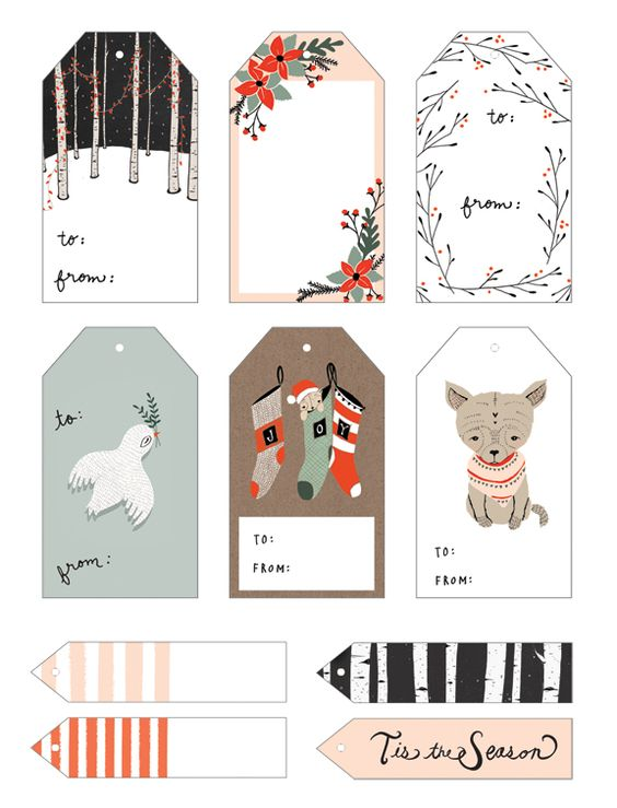 Kelli Murray Yuletide Gift Tags Free printable christmas gift - gift card templates free