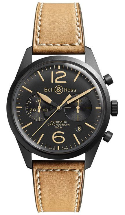 Bell & Ross Vintage BR 126 Heritage Black PVD Stainless Steel Chronograph Watch