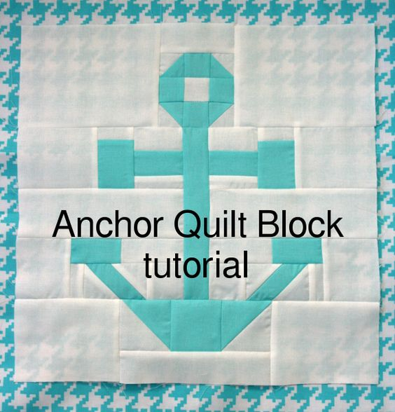 anchor quilt block tutorial- pieced... now just need someone to make it for me when the time comes!