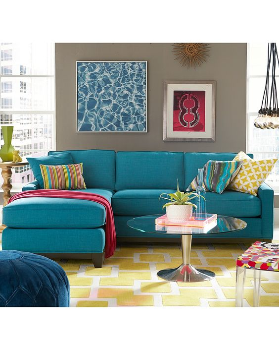 Keegan Fabric Sectional Sofa Living Room Furniture Collection - New Blues - Furniture - Macy's