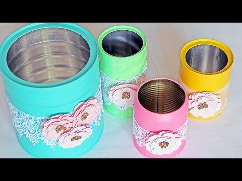 Do Lixo ao Luxo Latas Vintage Recicladas - YouTube