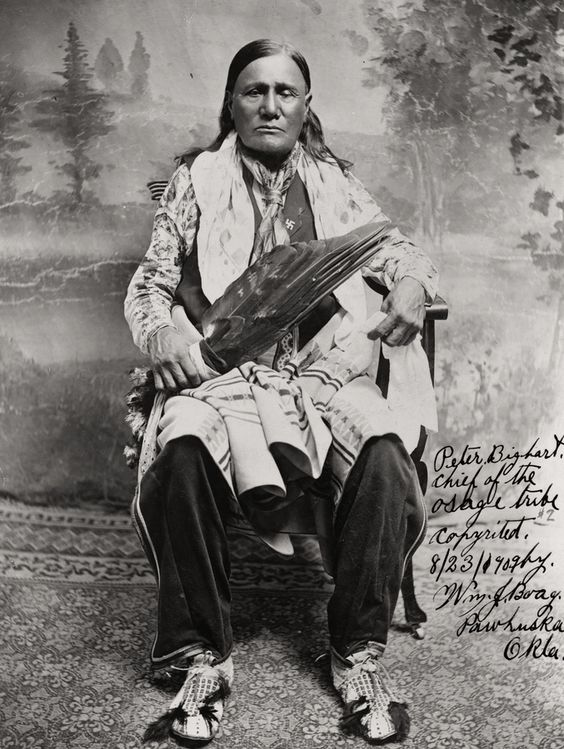 """""""Peter Big Heart, chief of the Osage tribe"""", 1909"""