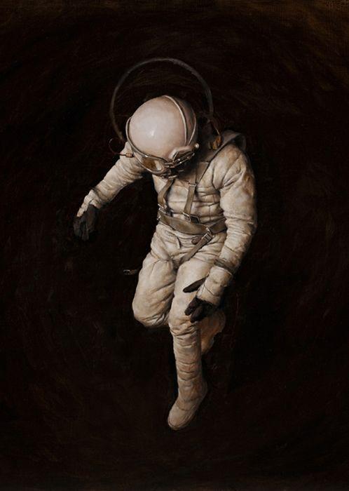Floating alone but floating alone / Tal vez un día llegue a flotar como un astronauta.