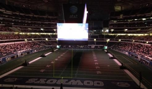 """Cowboying Up at the Opera  Commentary and video: Gregory Isaacs on the Dallas Opera's Magic Flute simulcast at Cowboys Stadium, with video footage and interviews."" via TheaterJones.com"