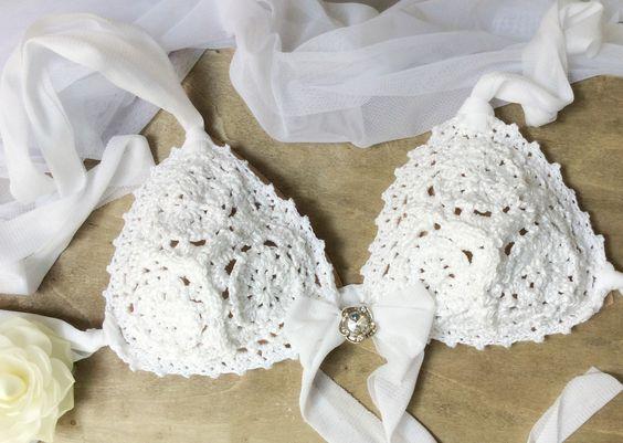 Crochet Bikini Bride. Uncinetto Costume da sposa