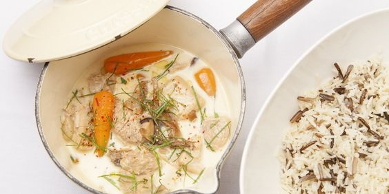 Classic French recipe from chef Eric Chavot for blanquette de veau.