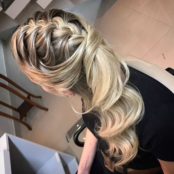 penteados de madrinhas 2020 trança