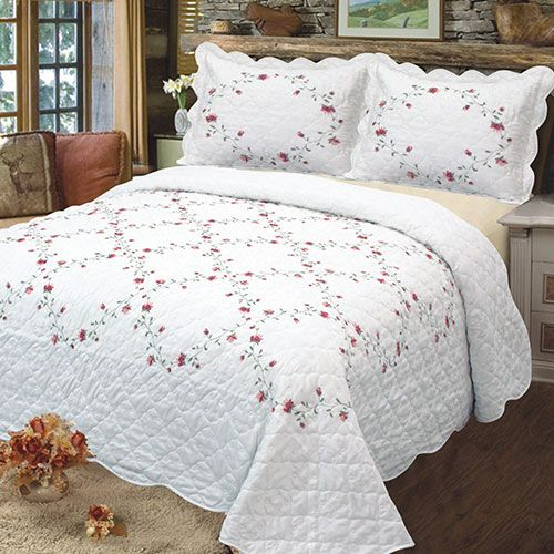 Embroidery Quilts Bedspreads Set