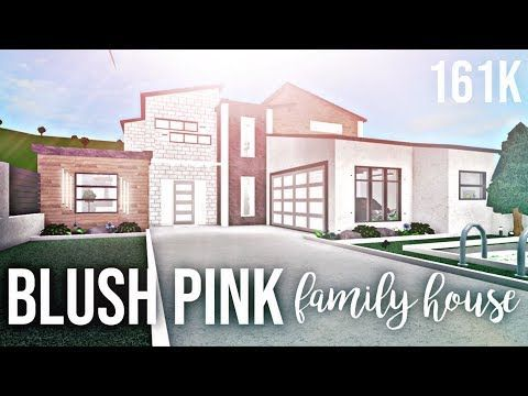Blush Pink Family House 161k Bloxburg Youtube Family House Modern Family House Family House Plans