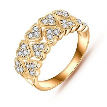 Venta al por mayor lindo anillo del amor 18 K oro / platino plateado pavimenta AAA Cubic Zirconia precioso anillos regalo para las niñas CRI0019
