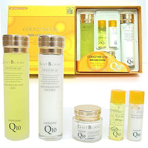 Jant Blanc Coenzyme Q10 Skin Care Set Fiveitem Skinemulsioncream Skin Free Travel Sizeemulsion Free Travel Size Travel Size Products Skincare Set Skin Care