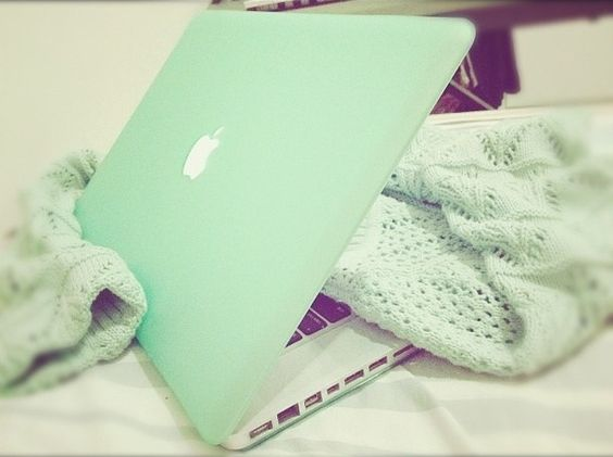 Mint green MacBook. I love my laptop but this is just perfect for me