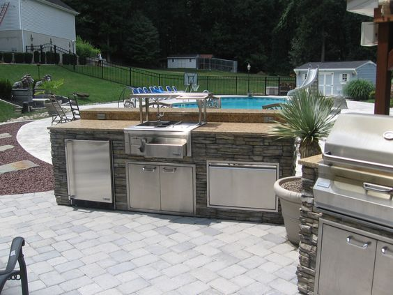 Custom Grill Builders- Complete Outdoor Bar - Custom ...