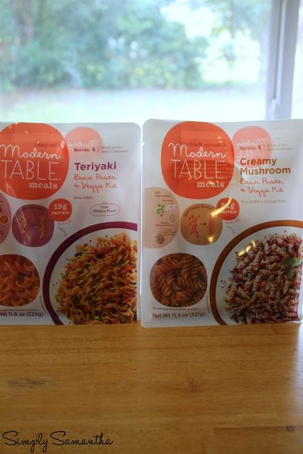 NEW Modern Table Meals Flavors!