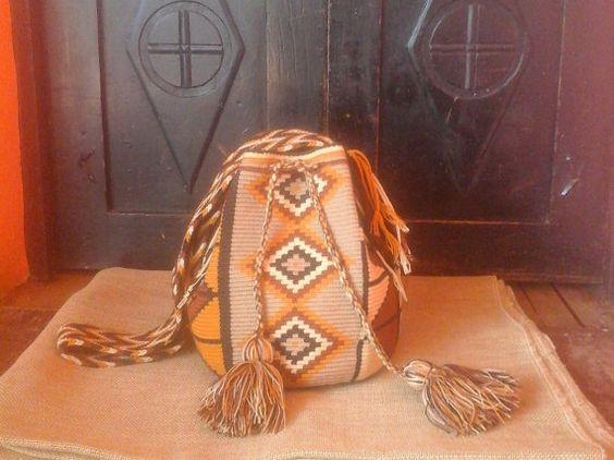 Wayuu Mochila Bag / Hand-Woven / Earthy Colors / by CasaLunaCo