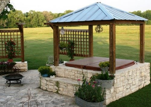 31 Awesome Hot Tub Enclosure Ideas 22 Is The Coolest Ever Hot Tub Landscaping Hot Tub Outdoor Hot Tub Backyard