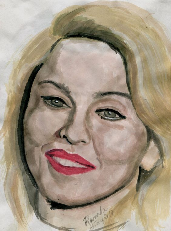 Water Color Sketch of the Pop Singer – Madonna Louise Ciccone