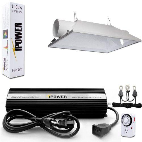 Cheap Ipower 1000 Watt Hps Digital Dimmable Grow Light System Kits Air Cooled Reflector Hood Set Doe Het Zelf