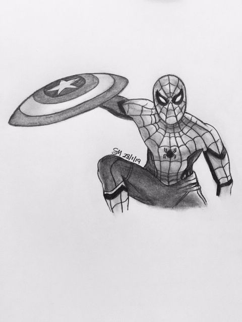 Drawing Of Spider Man Avengers Drawings Spiderman Drawing Marvel Drawings