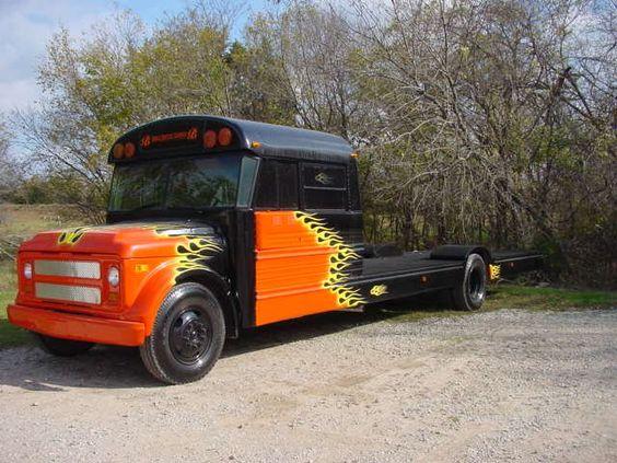 Schoolbus Flatbed Custom Flat Bed School Bus Stuff And