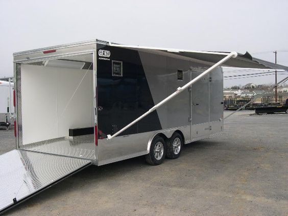 An Awning On The Outside Of The Trailer Great For Rain