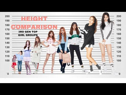 Kpop Height Comparison Shortest Vs Tallest Idols Top Selling 3rd Generation Girl Groups Youtube Kpop Girl Groups Girl Group Kpop Girls