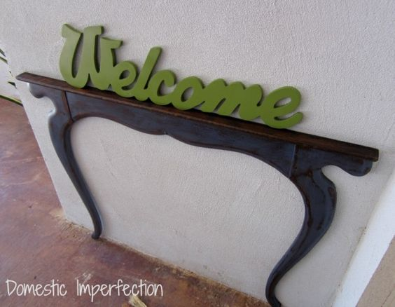 Outdoor Welcome Table