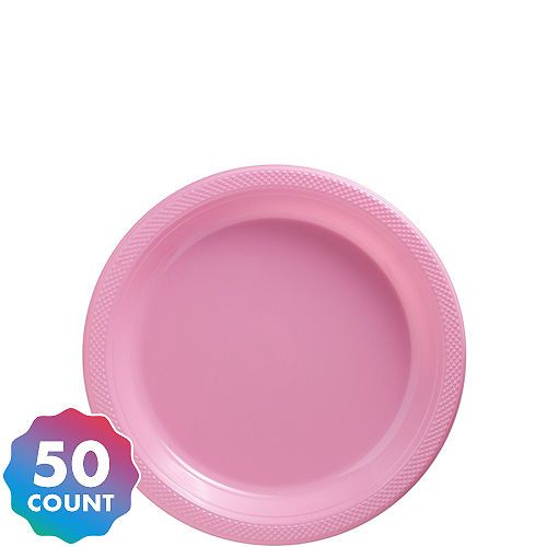 Big Party Pack Pink Plastic Dessert Plates 50ct 1st Birthday Party Supplies Party Packs Kids Birthday Party Supplies