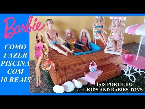 Como fazer Biquíni de bexigas para Barbie - How to make bikini for Barbie - YouTube