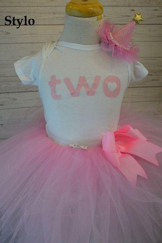 Second Birthday Tutu Set order or follow us on Facebook ; www.facebook.com/... #second #babypinktutu #princess #birthday #styloboutique