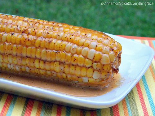 Oven Roasted Corn in Chile #Coconut Milk