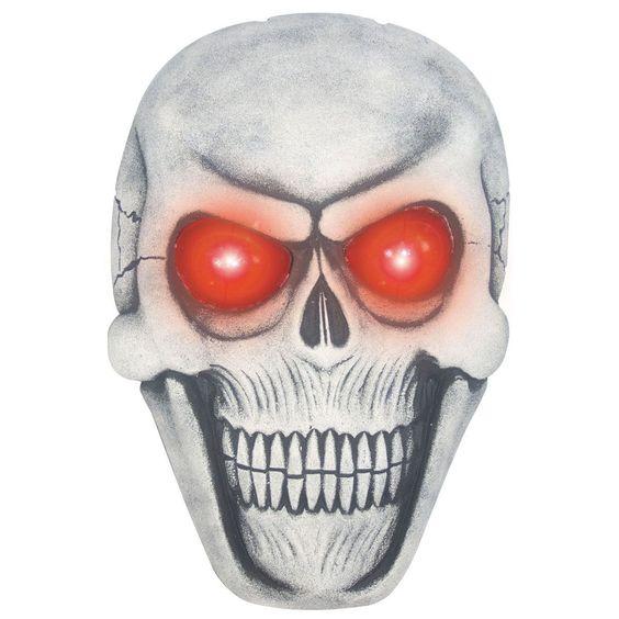 Giant Hanging Skull Plaque