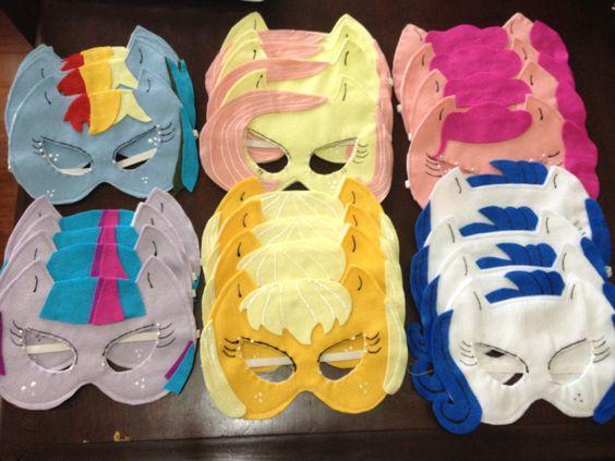 Máscaras infantis para aniversário decoração my little pony