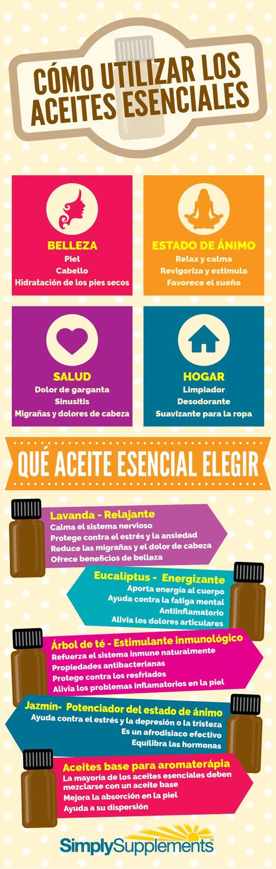 12 formas de utilizar los aceites esenciales
