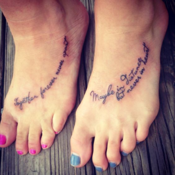Mom and daughter tattoo together forever never apart for Together forever tattoo