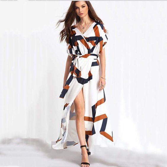 Find More Dresses Information about Women Lady Summer Female Fashion Batwing Sleeve Beach V Neck bohemian dress irregular empire waist sexy ankle dress,High Quality dress suspenders,China dresses italy Suppliers, Cheap dresses rhinestones from Brazil Fashion Style on Aliexpress.com