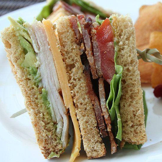 Turkey Club Sandwich: Bacon, cheese, turkey, and avocado are just a few of the sturdy ingredients in this mighty club sandwich. It should hold for several hours — that is, if you can wait that long before diving into the triple decker of bread.