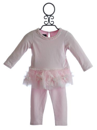 Isobella and Chloe Pink Tutu Dress with Legging for Infants $29.00