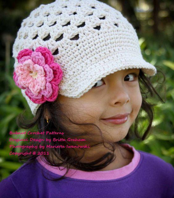Hat Crochet Pattern Open Stitch Newsboy Crochet by BBfromOz-buyable ...