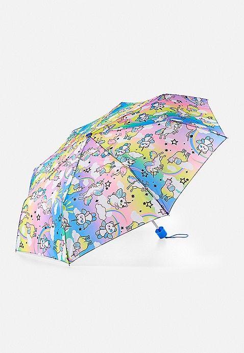 Rainbow mermaids parasols