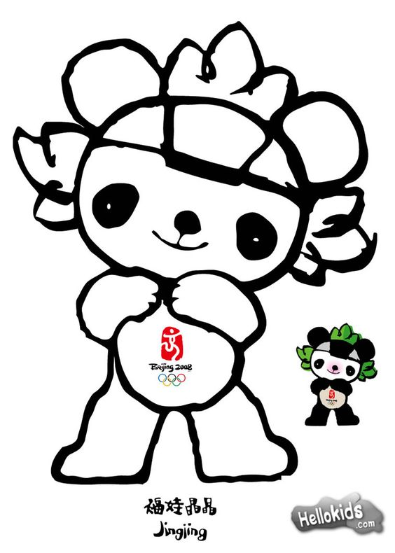 olympic mascots coloring pages - photo#2