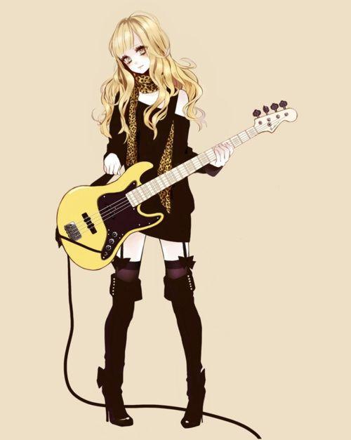rocker girl cartoon | msyugioh123 Anime guitar girl