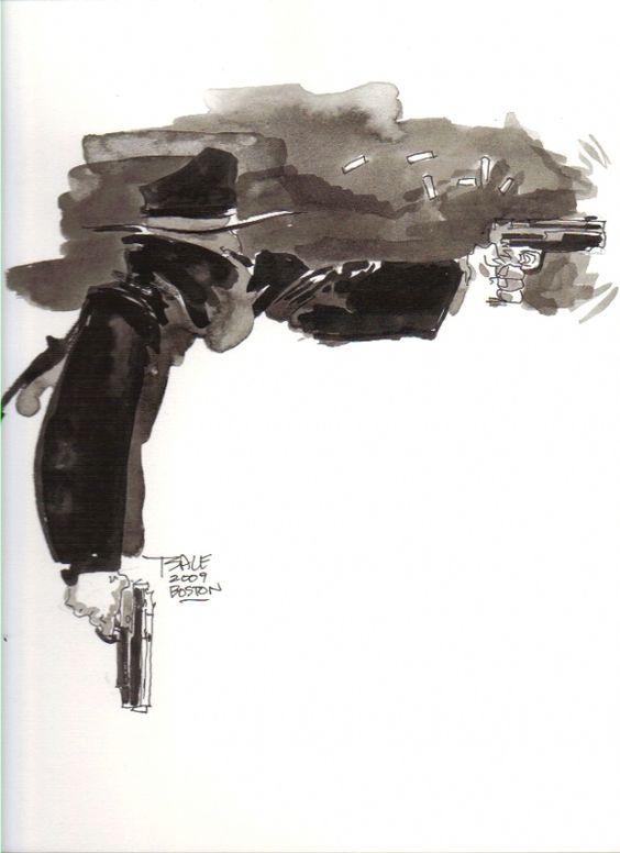Tim Sale - The Shadow Comic Art