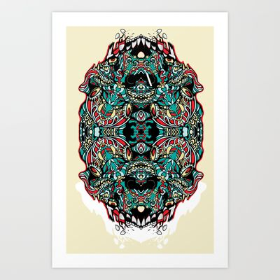 Skull Cathedral Art Print by Quakerninja - $18.00